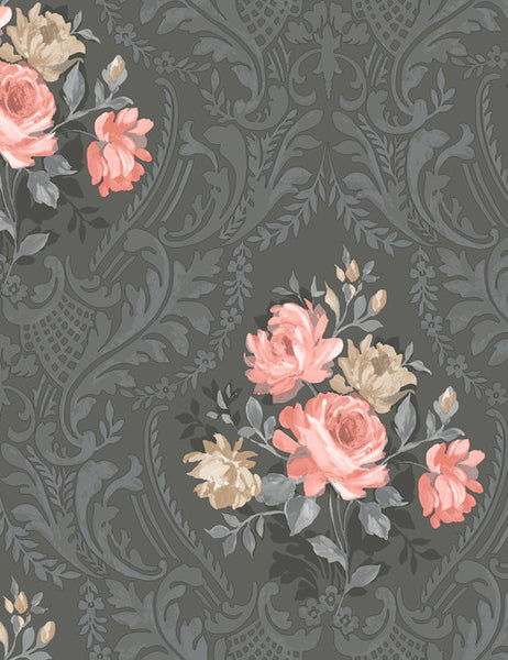 98150 Brigitte is a beautiful Black Floral Wallpaper from Holden Decor