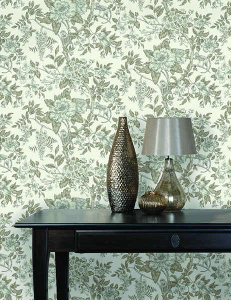 98451 Sumatra is a beautiful Cream Floral Wallpaper from Holden Decor