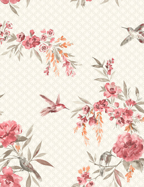98592 Mika is a beautiful Red / Orange Bird Wallpaper from Holden Decor