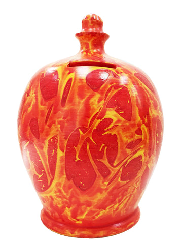 Terramundi Money Pot EXPRESS Charmed Red, Orange And Yellow - EXB86