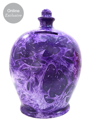Charmed Money Pot Purple With Lilac- B90