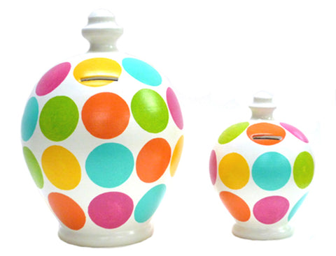 Terramundi Money Pot Deluxe Spots Multicoloured - BP12