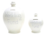 Terramundi Money Pot EXPRESS Deluxe 'Wedding Fund' White with Silver - EXBP8
