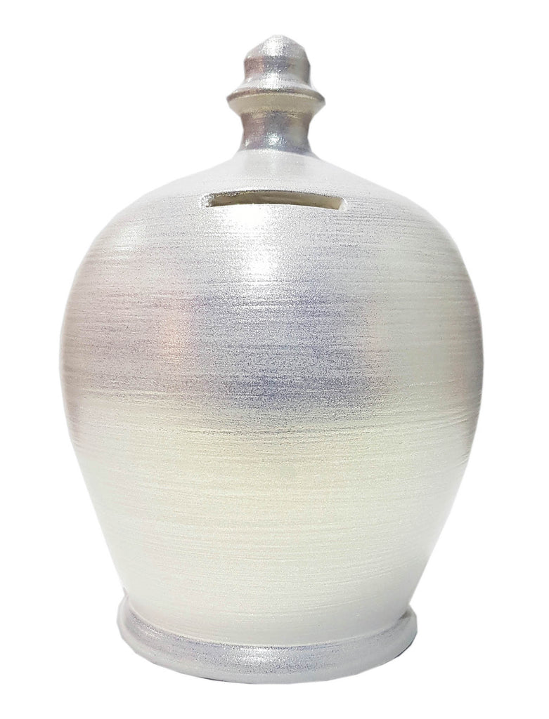 Terramundi Money Pot Twinkle Twinkle Pearlescent White - C77