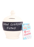Terramundi Money Pot Blackboard in White - BB25