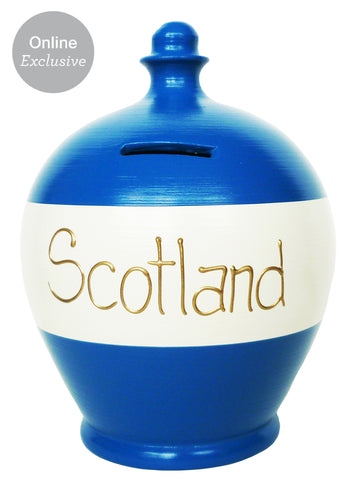 Terramundi Money Pot 'Scotland' Blue and White - S220
