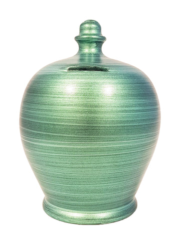 Terramundi Money Pot Metallic Green - A80