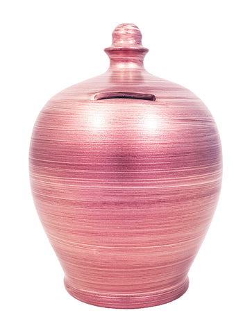 Metallic Money Pot Purple - A81
