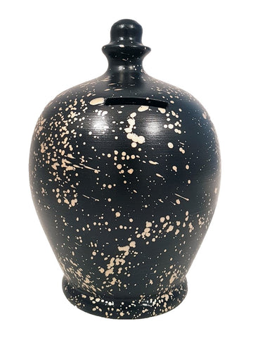 Terramundi Money Pot EXPRESS Splash Flecks Black with Gold - EXB74