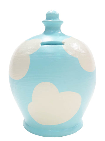 EXPRESS Cloud Money Pot Blue With White - EXD85