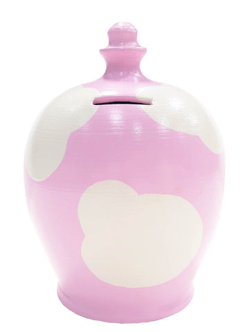 Terramundi Money Pot Cloud Pink With White - D86