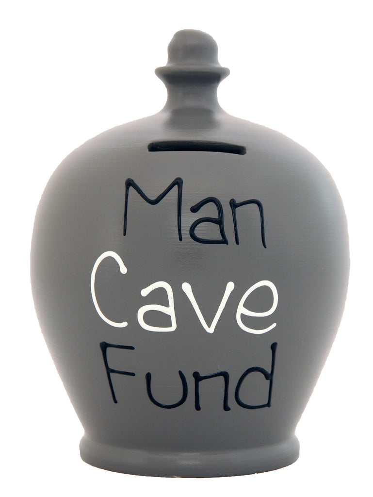 Terramundi Money Pot 'Man Cave Fund' Grey - S303