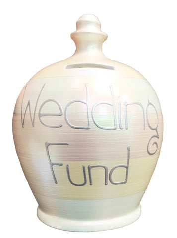 Terramundi Money Pot EXPRESS Pearlescent Stripes 'Wedding Fund' - EXWEC73S31