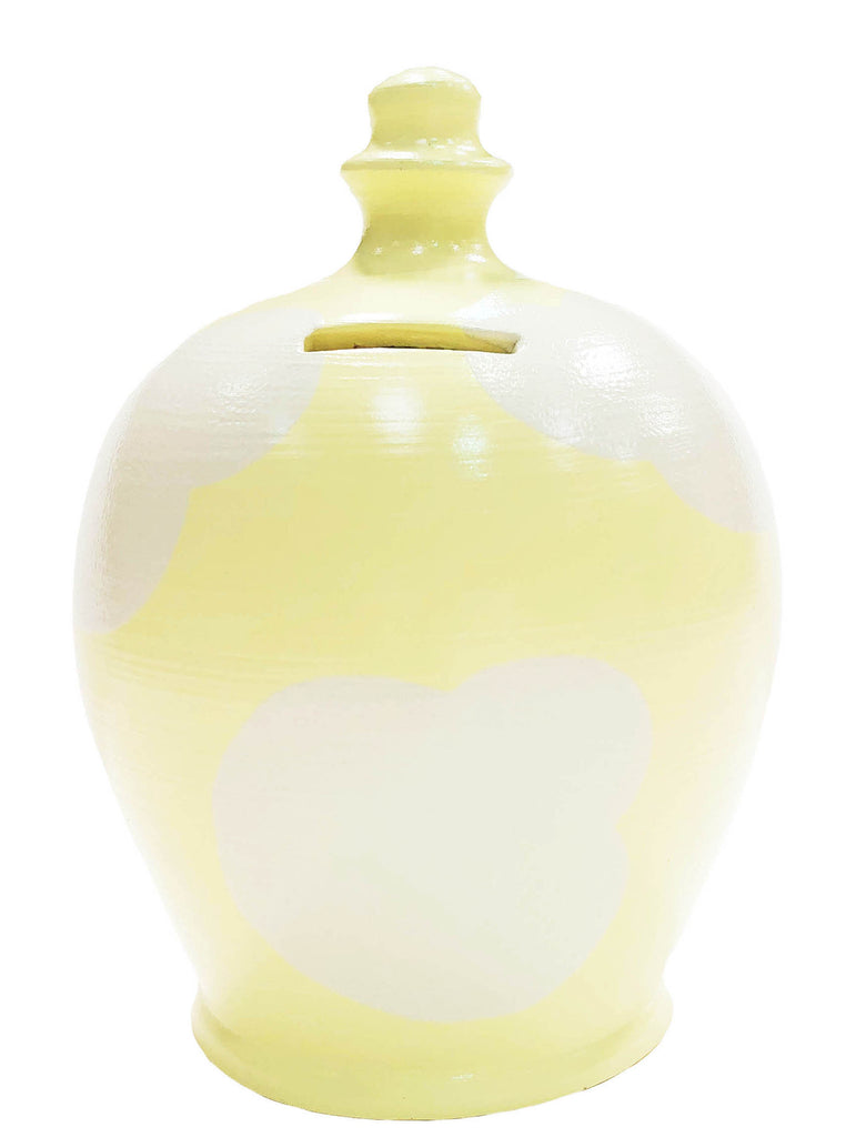 Terramundi Money Pot Cloud Yellow With White - D87