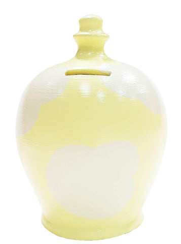 Terramundi Money Pot Cloud Money Pot Yellow With White - D87