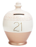EXPRESS Glitter Money Pot White And Rose Gold With '21' In Gold - EXWEG9S8