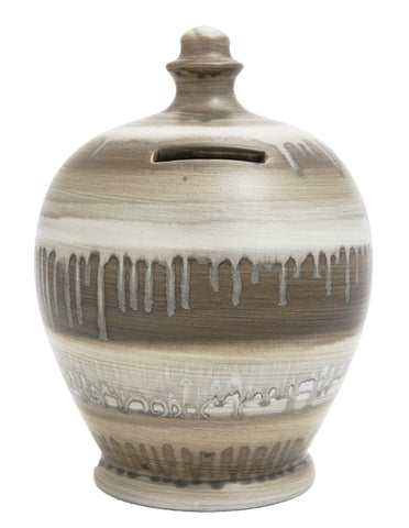Terramundi Money Pot Slick Light Brown, Grey and Silver - A58