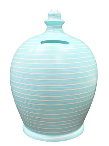 Terramundi Money Pot EXPRESS Stripe Baby Blue and White - EXA88