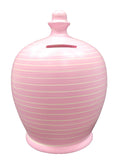 Terramundi Money Pot EXPRESS Stripe Baby Pink and White - EXA90