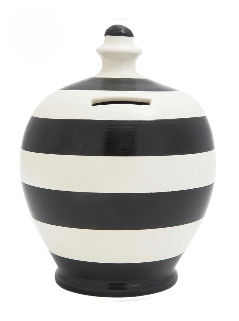 Terramundi Money Pot Stripe 'Football' Black and White  - B2