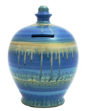 Terramundi Money Pot Slick Blue and Gold - B27
