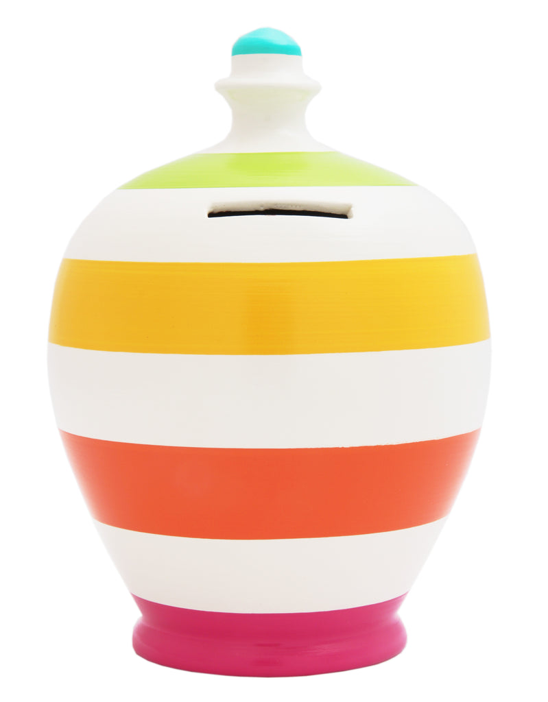 EXPRESS Stripe Money Pot Multi Coloured - EXB4