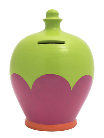 Terramundi Cupcake Money Pot Lime, Pink and Orange