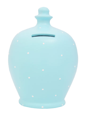 Spot Money Pot Baby Blue with Tiny White Dots - B7