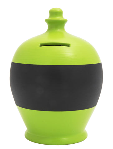 Terramundi Money Pot Blackboard in Lime Green - BB15