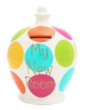 Spot Money Pot Pink, Aqua, Lime, Orange and Yellow - C10