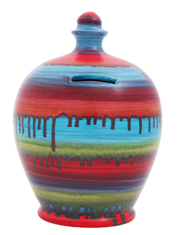 Terramundi Money Pot Slick Multi Coloured - C11