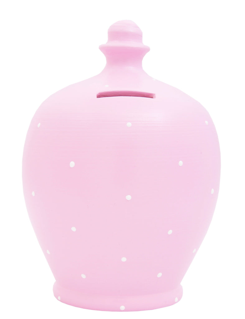 Spot Money Pot Pale Pink with Tiny White Dots - C22