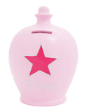 Terramundi Money Pot Star Pale Pink - D14
