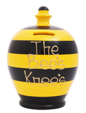Stripe Money Pot Black and Yellow - D33