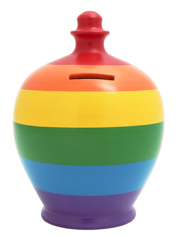 Terramundi Money Pot Stripe Money Pot Multi Coloured - D51