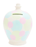 Terramundi Money Pot Spot White with Pastel Spots - D53