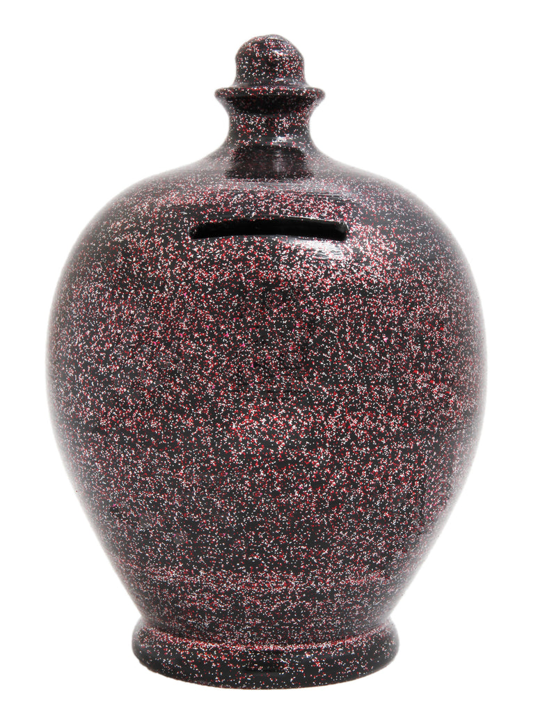 EXPRESS Glitter Money Pot Black with Silver and Red - EXG1