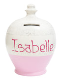 Terramundi Money Pot Glitter White with Pale Pink and Silver - G2