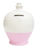 Terramundi Money Pot EXPRESS Glitter White with Pale Pink and Silver - EXG2