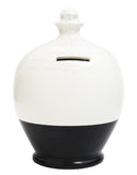 Terramundi Money Pot EXPRESS Glitter White with Black and Silver - EXG8
