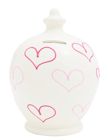 Terramundi Money Pot Love Pink Multiple Hearts - L24