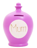 'Mum' Money Pot Mauve - M8