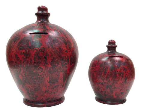 Terramundi Money Pot Deluxe Charmed Black & Red - BP51