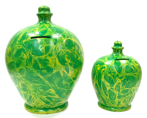Terramundi Money Pot Deluxe Charmed Green & Yellow - BP52