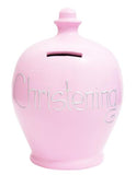 Terramundi Money Pot EXPRESS 'CHRISTENING' Pink with Silver - EXS104