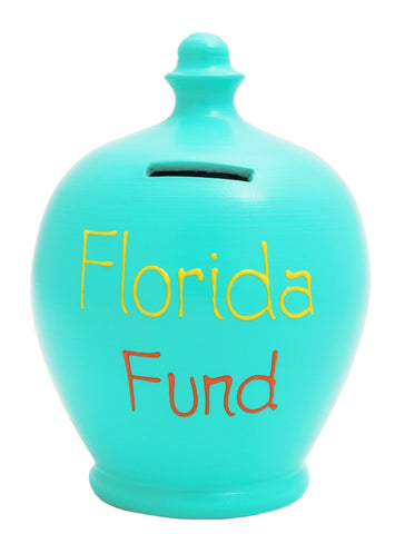 'Florida Fund' Money Pot Aqua - S114