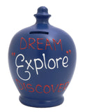 EXPRESS 'Dream Explore Discover' Money Pot Electric Blue - EXS146