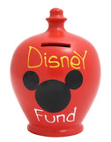 Terramundi Money Pot 'Disney Fund' Red - S152