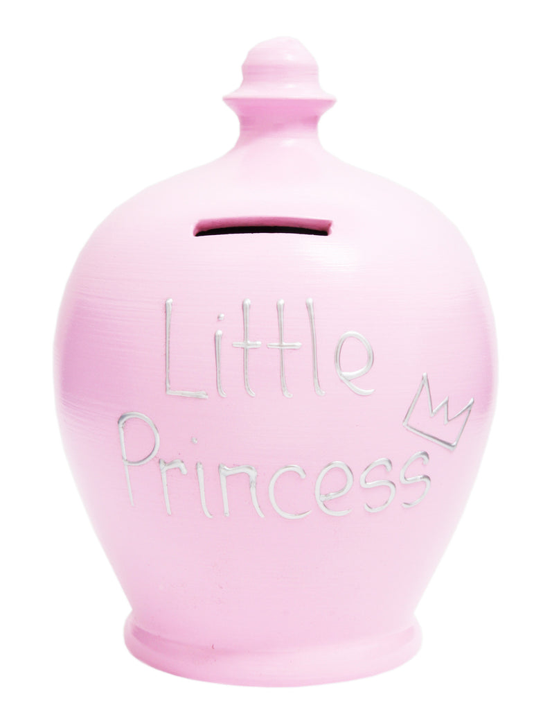 'Little Princess' Money Pot Pale Pink - S163
