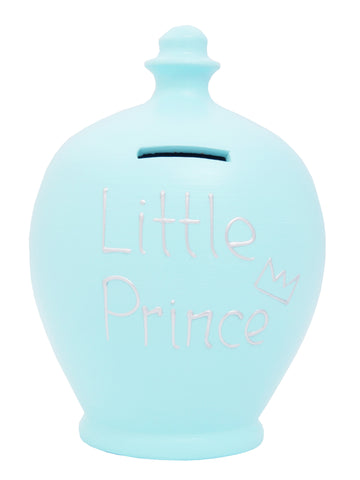 Terramundi Money Pot  'Little Prince' Baby Blue - S164